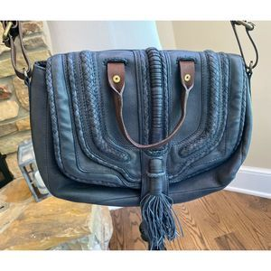 Anthropologie Holding Horses Purse Leather Cross